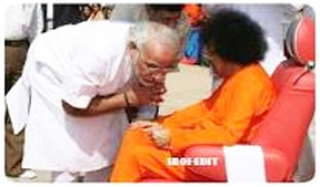 Narendra Modi blessed by Baba